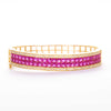Pink Zircon And Gold Plated Bracelet