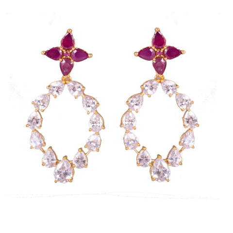 Zircon ruby classy earrings