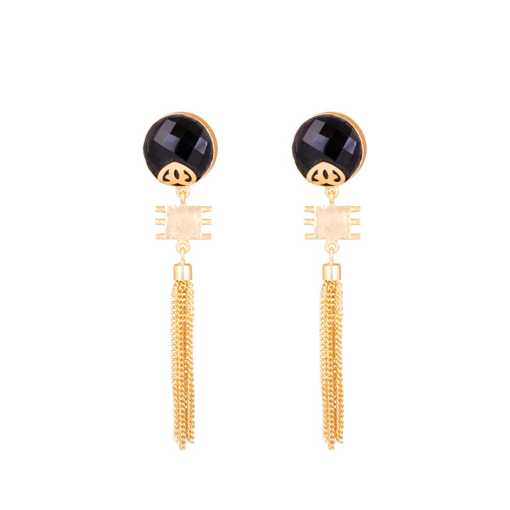 Stylish Gold Chain Party Wear Earrings