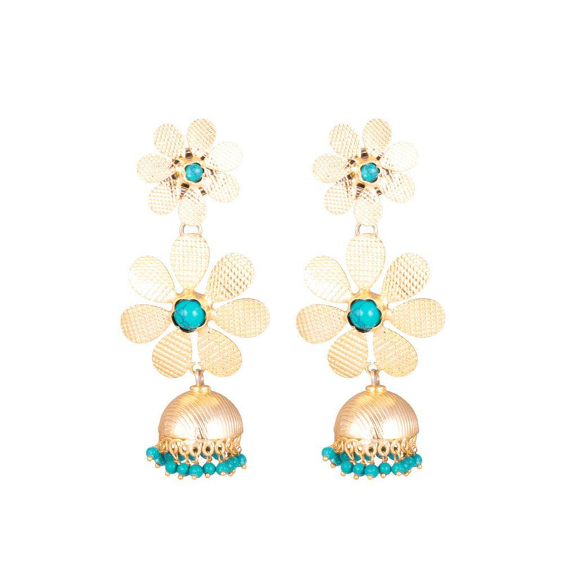 Jhumka charm statement earrings