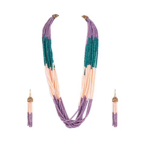 Layered breath necklace set
