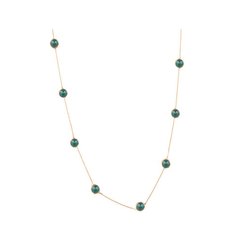 Charming green gold detailed set