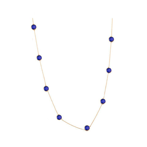 Casual blue semi precious set