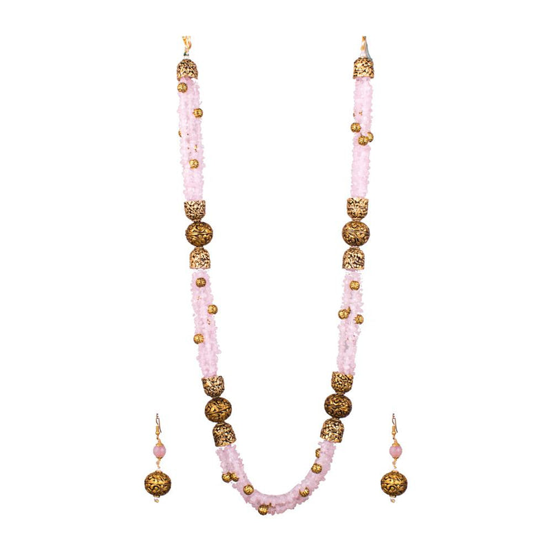 Baby Pink Layered Beads Set