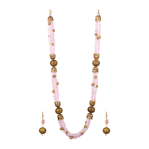 Baby Pink layered necklace set