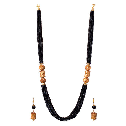 beatuful black beaded set