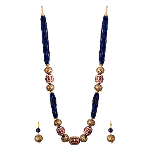 Charm of blue beads set