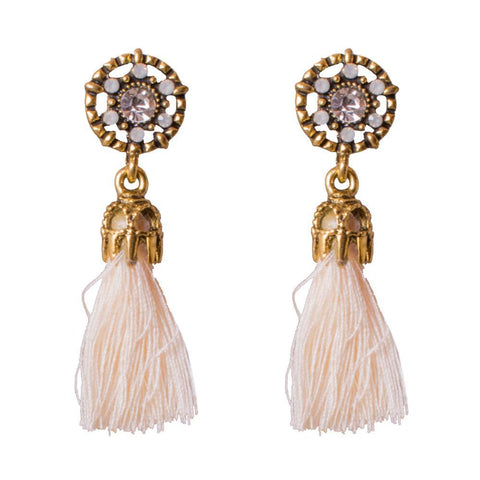 Intricate tassel earrings