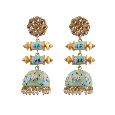 Unique pastel blue jhumkas