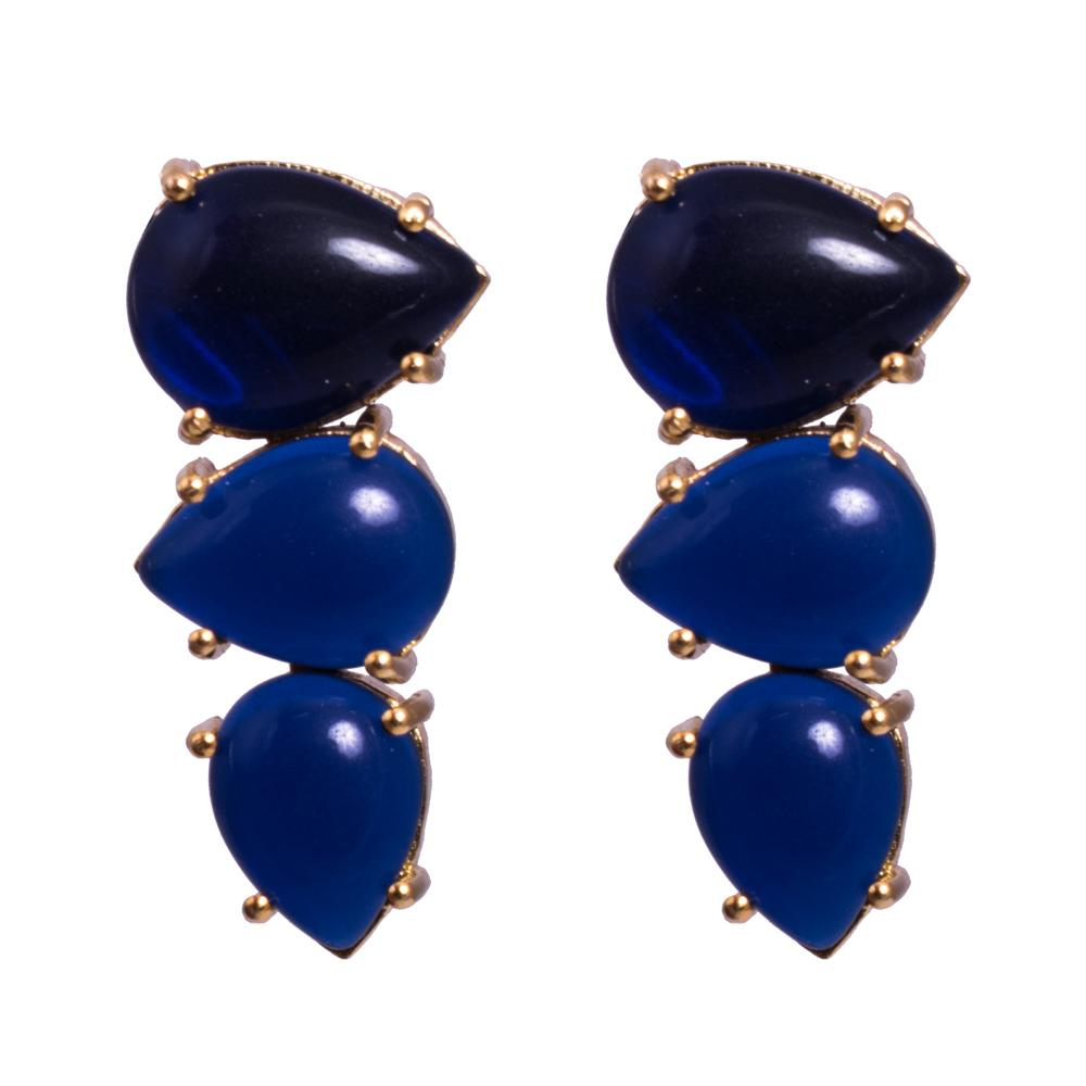 Black blue daily earrings