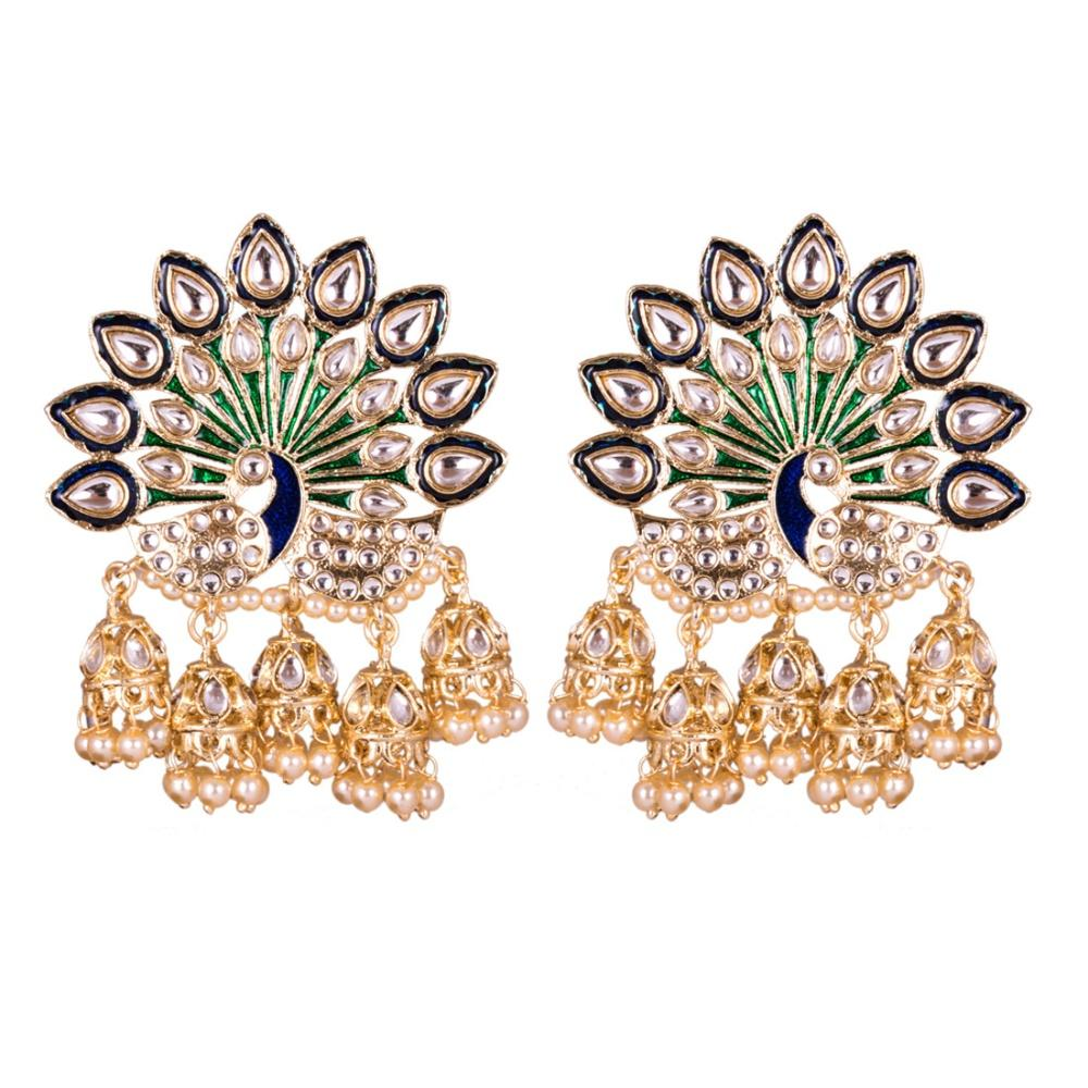 Art And Peacock Party Wear Earrings