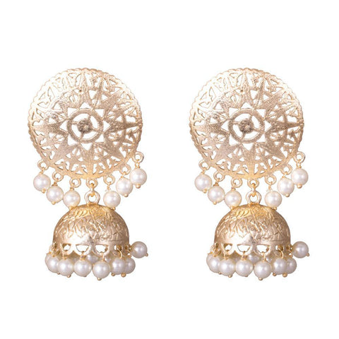Bright beuatiful gold plated earrings