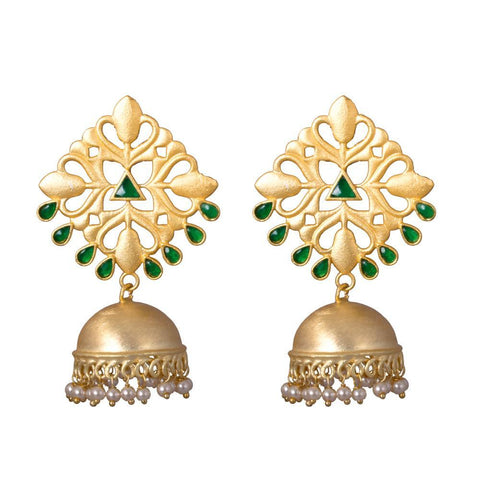White pearl traditional jhumkas