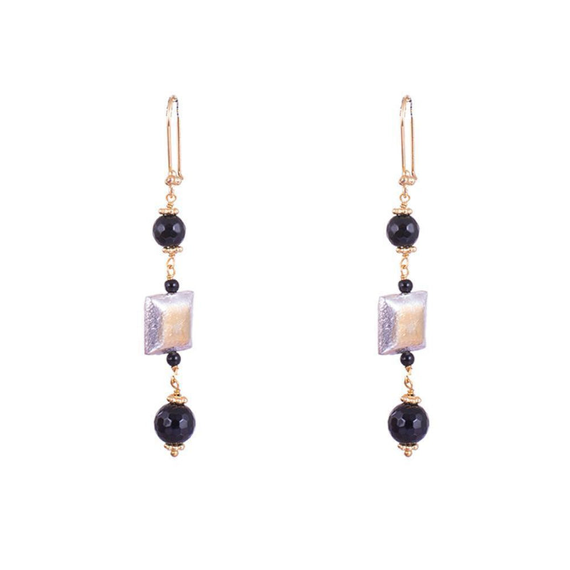 Black And Square Earrings