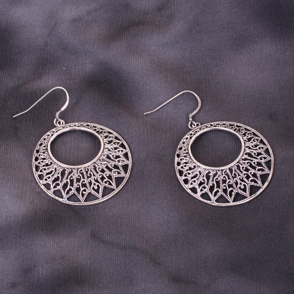 Fabulous 92.5 Designer Silver Earrings