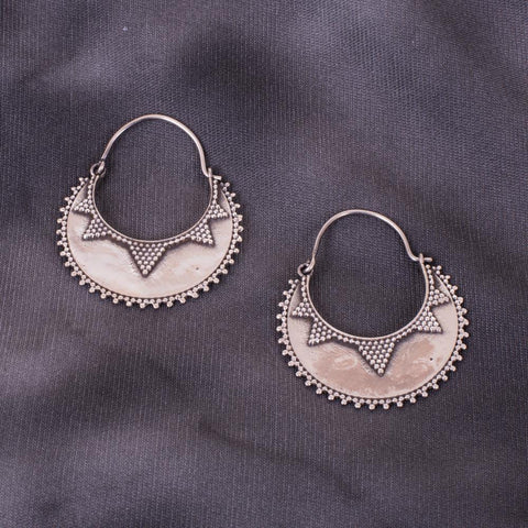 Exclusive chandbali inspired silver earrings