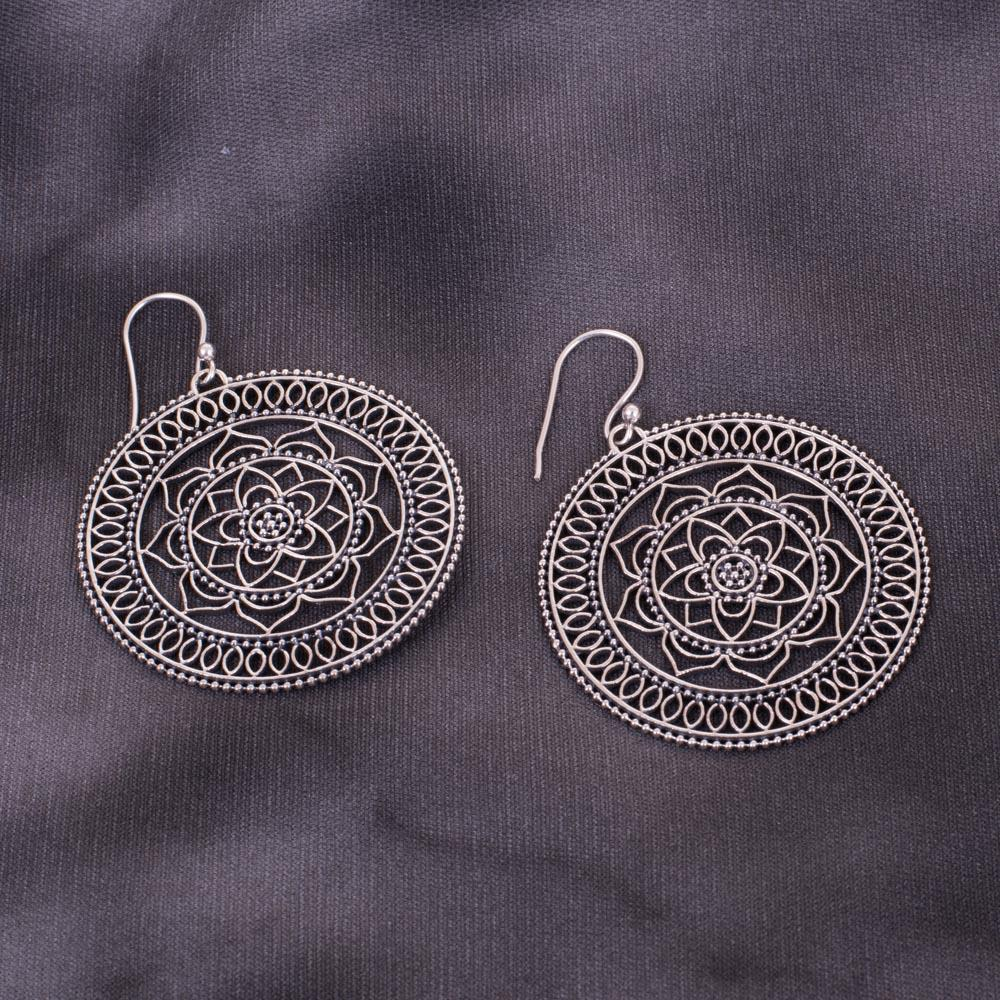 Classy Floral Designer 92.5 Silver Earrings