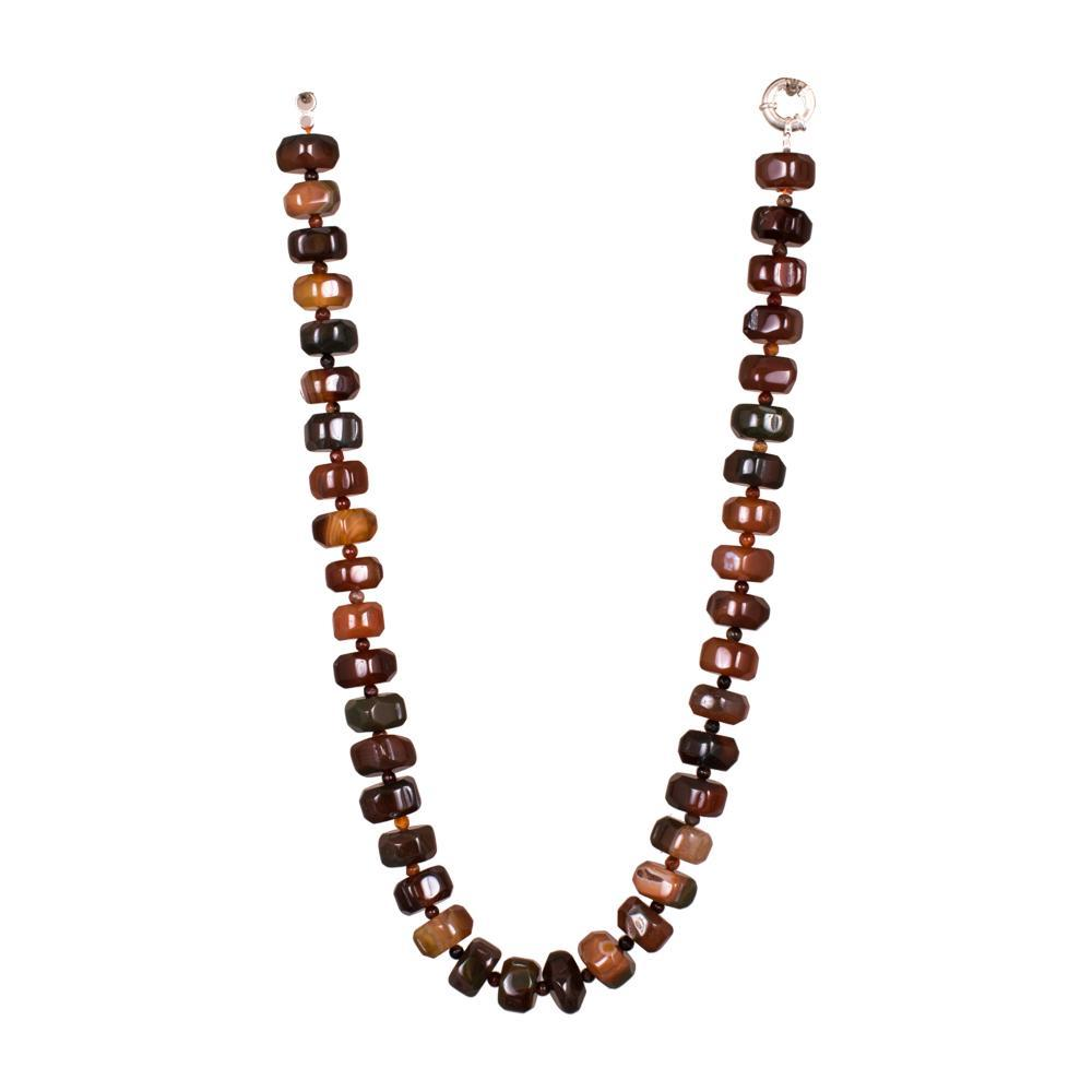 Brown Mixed Red Glamor Beads