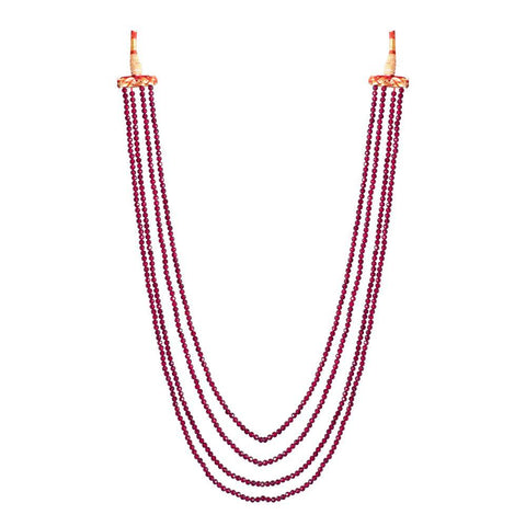 Multilayered Ruby Necklace