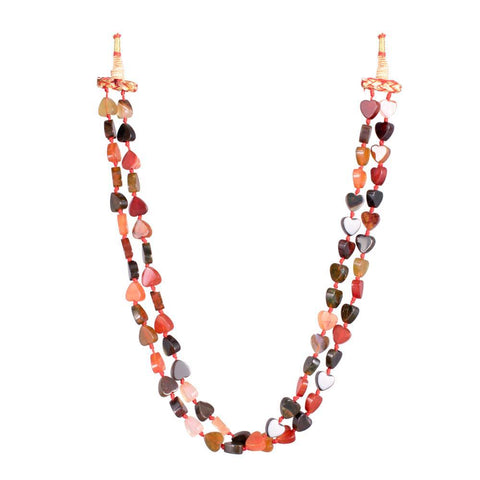 Fiery hearted Double layered Necklace
