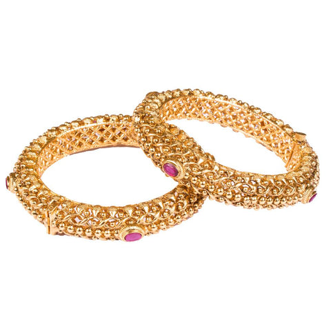 Gold plated rich bangles