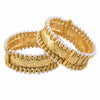 Style your simple traditional events with these matte gold plated bangles. It has single tone beautiful detailing for contrasting style.