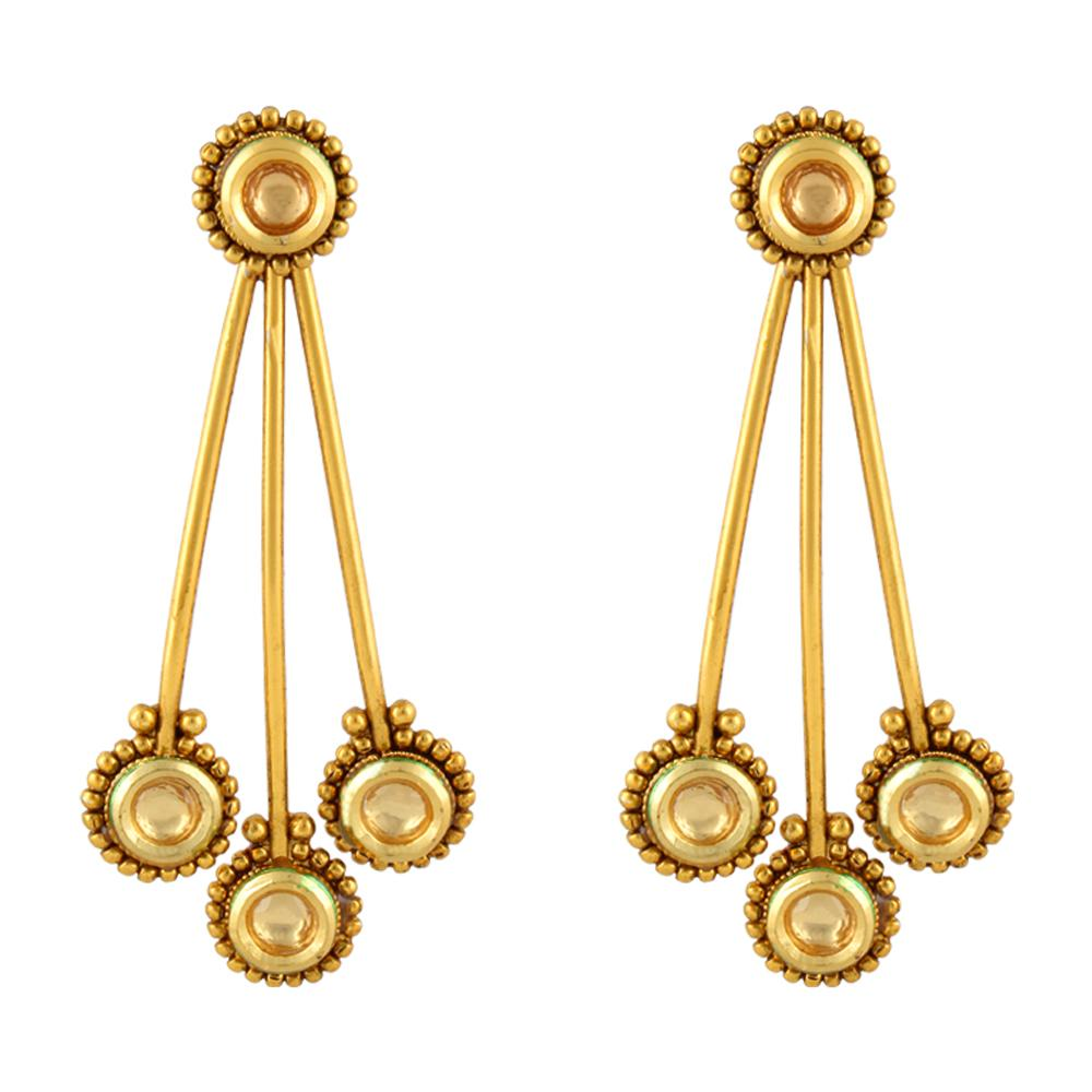 Pendulam Shaped Antique Earrings