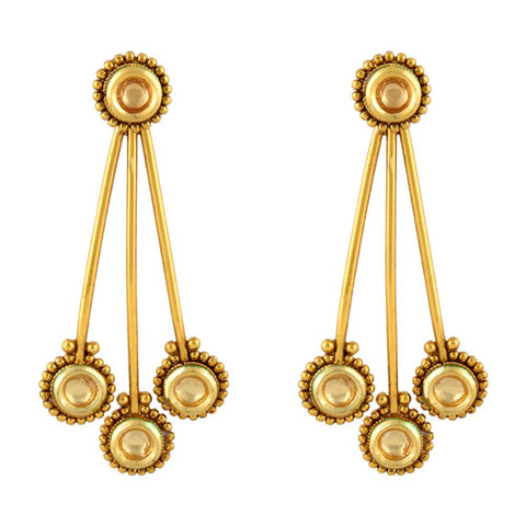 Pendulam shaped antique Earrings - mystic collections