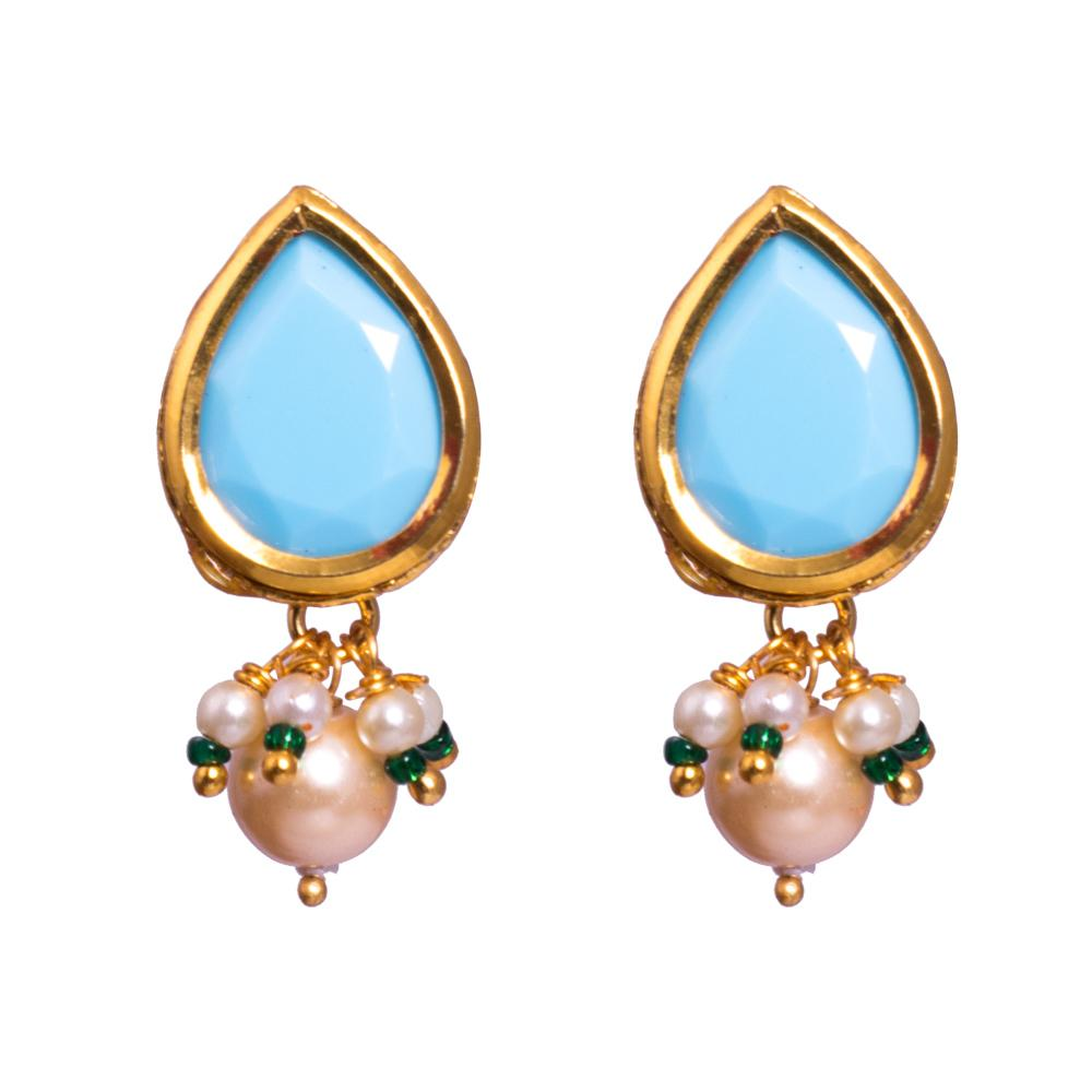 Pastel blue earrings