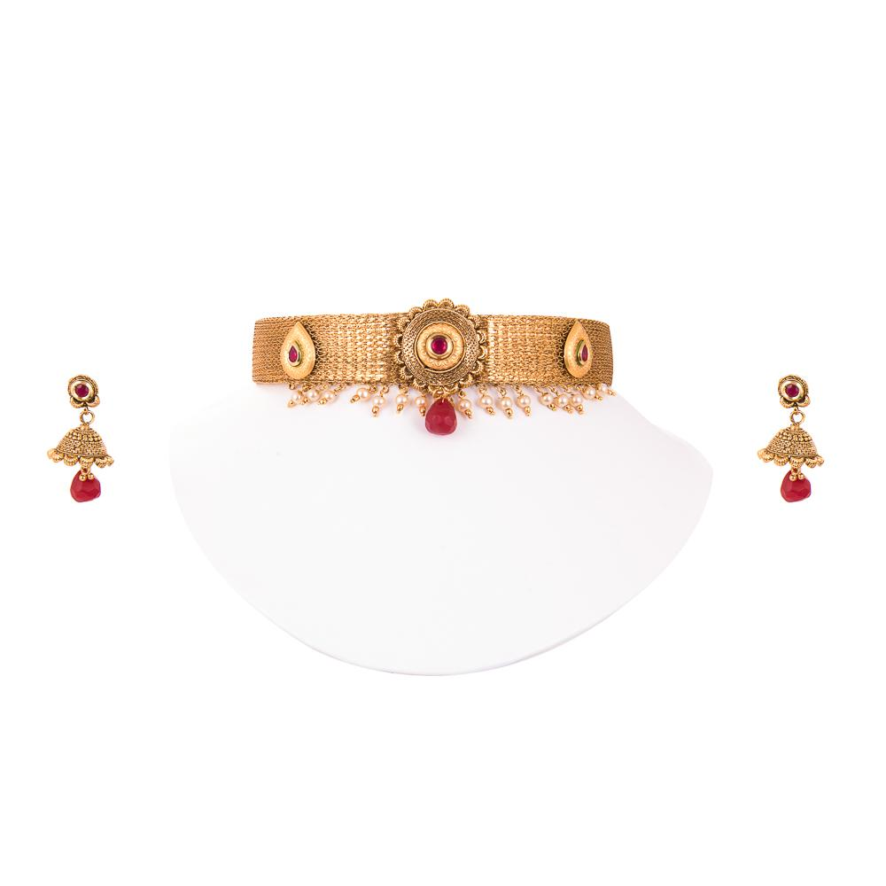 Temple Bridal Jewellery Choker Set