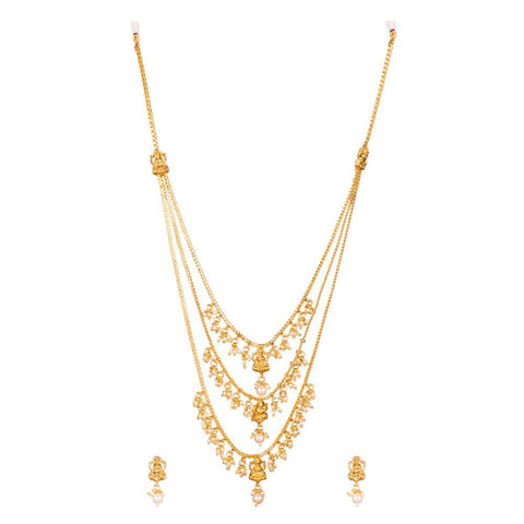 Three Layered Filigree Necklace Set