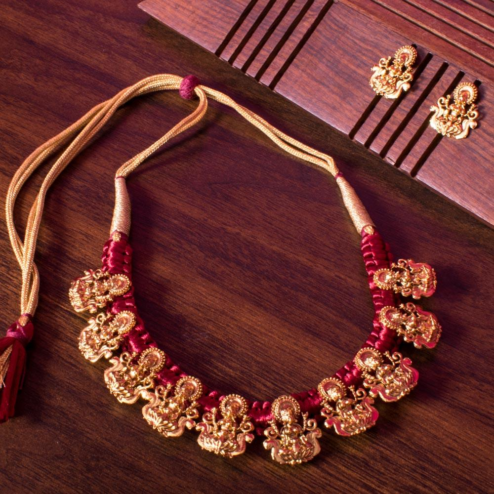 Red laxmi necklace set