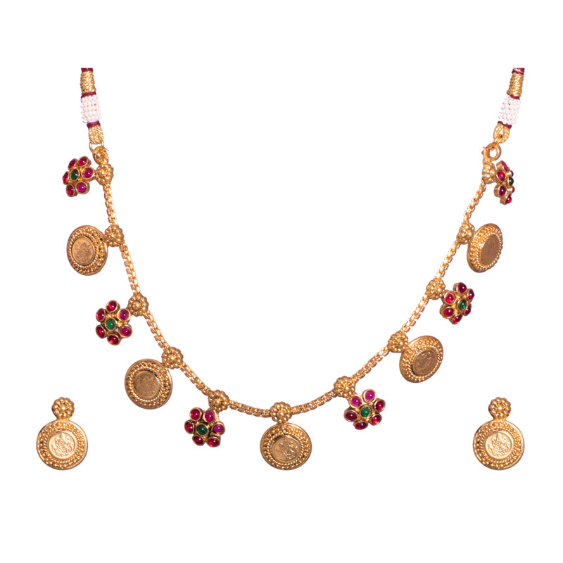 Gold and floral necklace