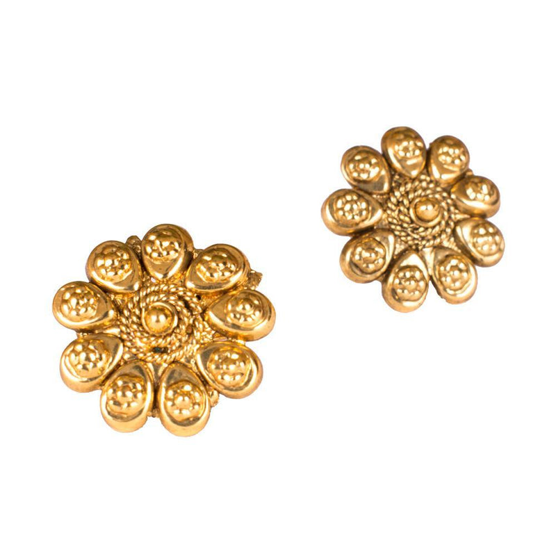 Floral Gold Plated Toe Rings