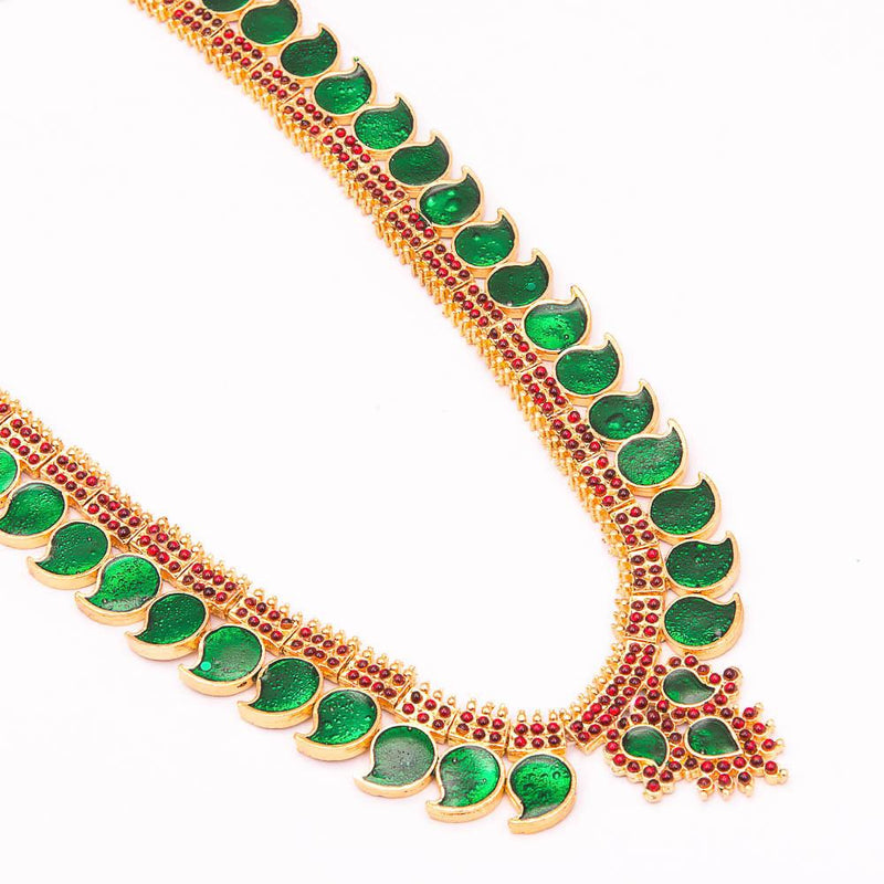 Green Enamel Red Kemp Long Haram