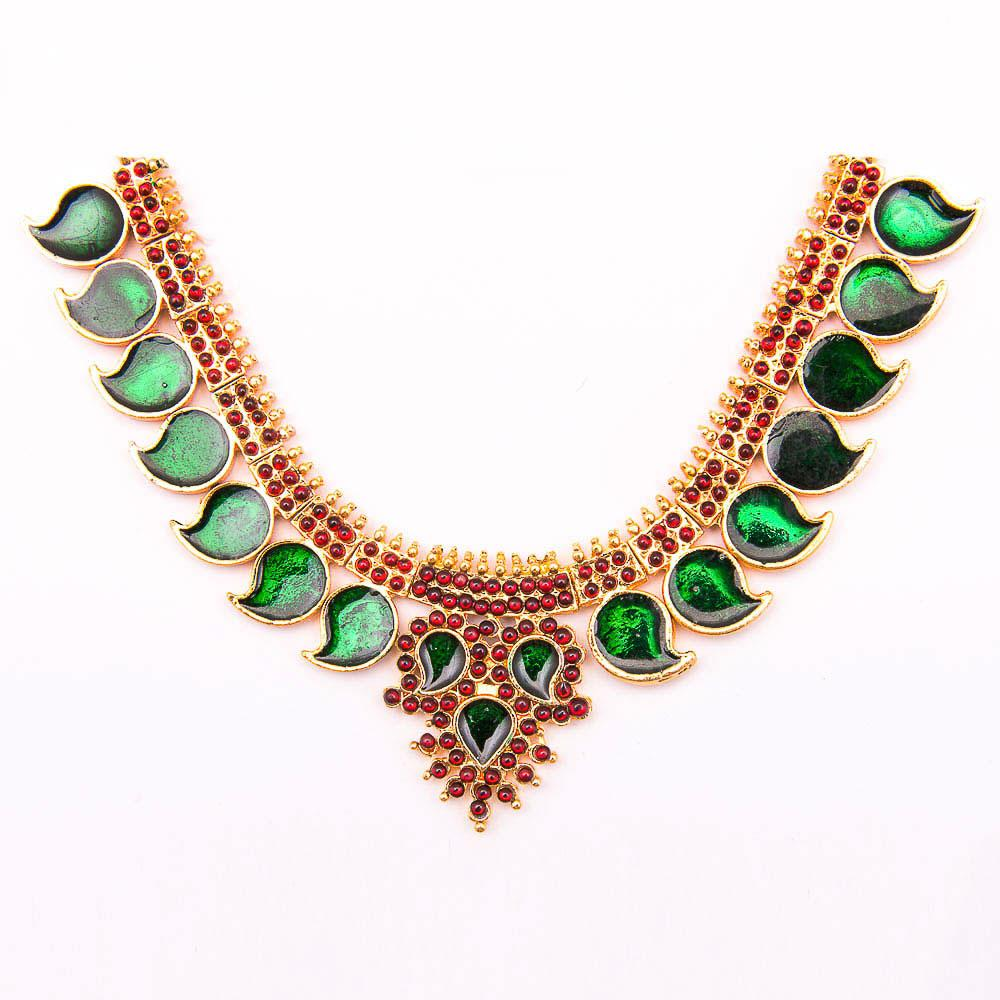Unique Bharthanatyam Short Necklace