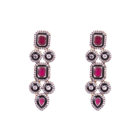 Kemp stone embellished earrings