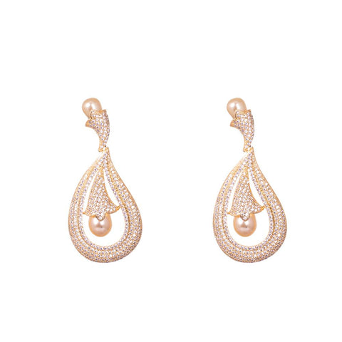 High end drop earrings