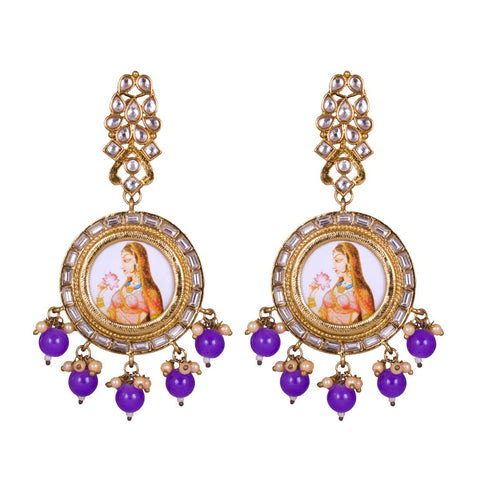 Royal handpainted princess earrings