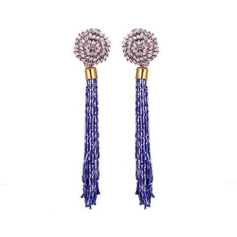 Dazzle blue beaded earrings