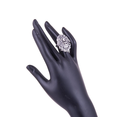 Goddess Lakshmi Silver Ring