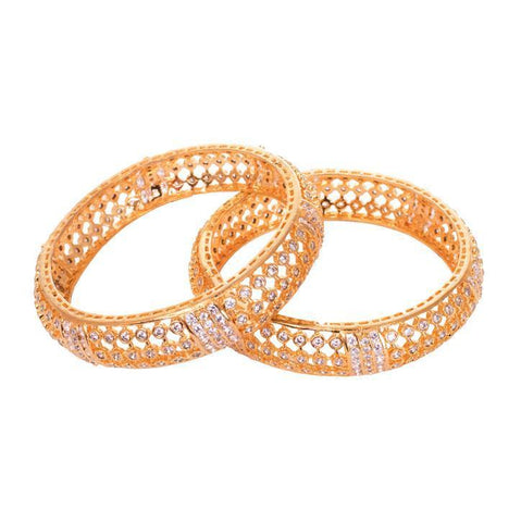 Shine of zircon bangles