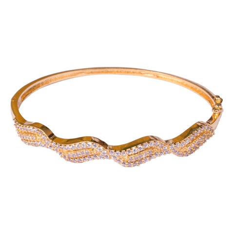 Gold plated charming American diamond bangles