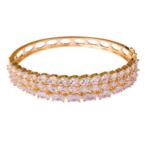 Layered statement American diamond bangles