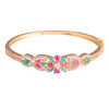 Kada with flower pattern bracelet