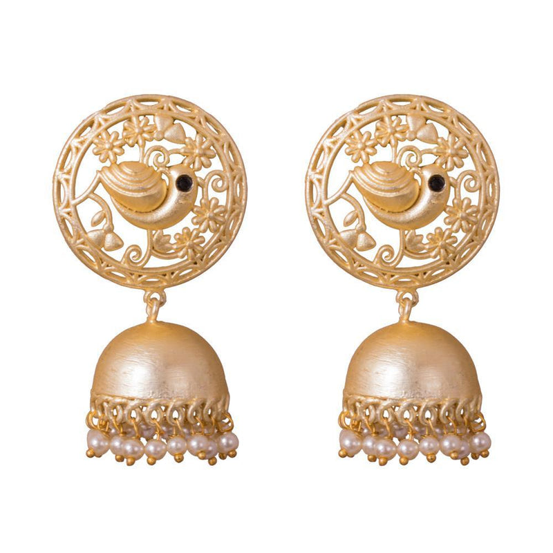 Unique Gold Plated Jhumka Earrings