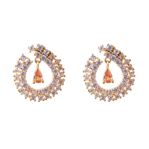 Zircon designer earrings