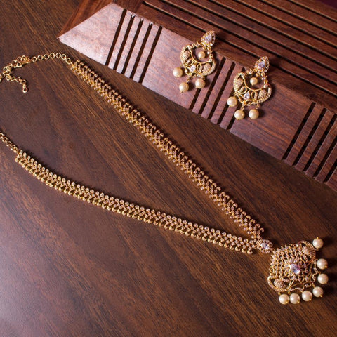 Gorgeous zircon long necklace set