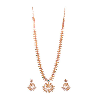 Long zircon stylish necklace