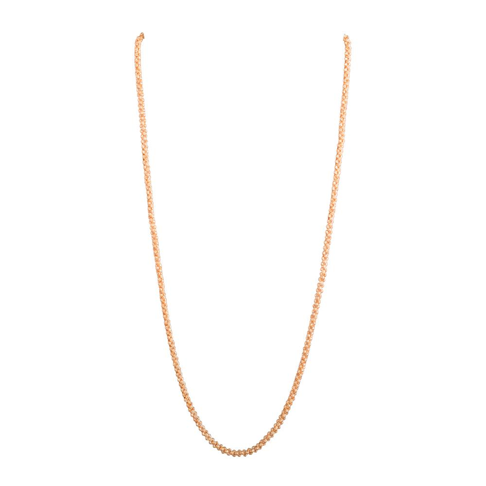 Gold patterned long chain